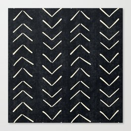 Mudcloth Big Arrows in Black and White Canvas Print