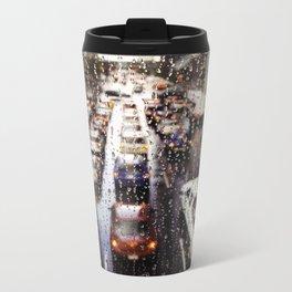 Rainy Rush Hour Metal Travel Mug