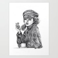 kate moss Art Prints featuring Kate Moss by Anja-Catharina