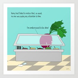 raw beet. Art Print