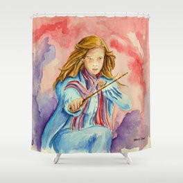 Hermione - A Beautiful Witch. Shower Curtain