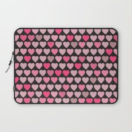 Valentines Hearts- Black Background Laptop Sleeve