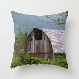 Middle Of Nowhere - Country Art Throw Pillow