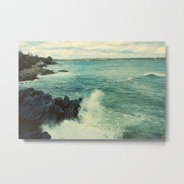 Rhode Island Crashing Wave Metal Print