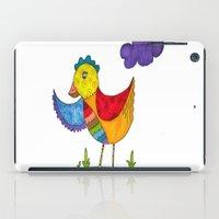 "chicken iPad Cases featuring ""Chicken""  by Holly Lynn Clark"