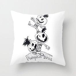 Pumpkin Bros. Throw Pillow