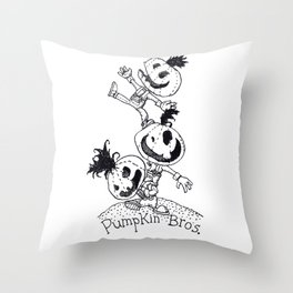 Pumpkin Bros. Throw Pillow