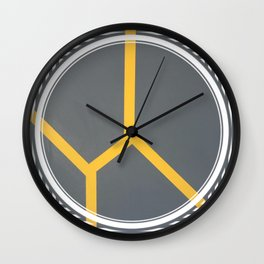 To Bee or Not - line graphic Wall Clock
