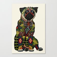 pug love ivory Canvas Print