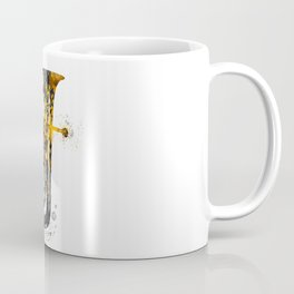 Euphonium music art gold and black #euphonium #music Coffee Mug