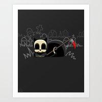 Grim Reapets - A Cat Named Coffin - Blood Variant - Grim Pets Art Print