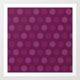 Dots and dots Art Print