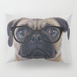 Geek Pug Pillow Sham