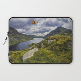 Snowdonia Helicopter Mountain Resuce Laptop Sleeve