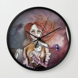 Flying High (music can make everything feel like Home) Wall Clock