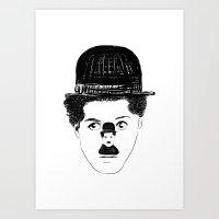 charlie chaplin Art Prints featuring Charlie Chaplin by creaziz