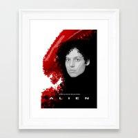 alien Framed Art Prints featuring Alien by TheRandomFactory