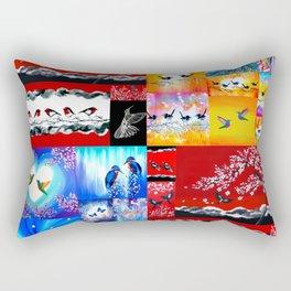 mainly red Rectangular Pillow
