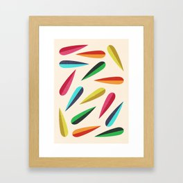 Feathers II Cascading Colors Framed Art Print