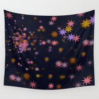 carnival Wall Tapestries featuring Carnival Night by Lena Photo Art