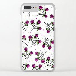 Rose Sprig Pattern Clear iPhone Case