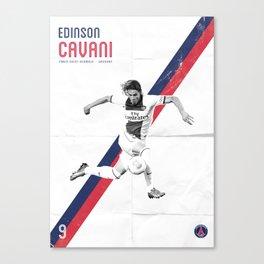 Edinson Cavani Poster Canvas Print