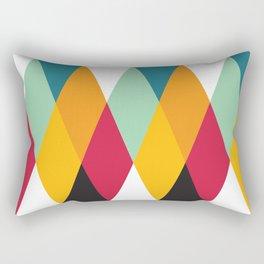 Geometric Pattern #27 (yellow orange red green) Rectangular Pillow