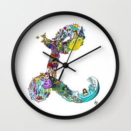 L is for Lucca 2 Wall Clock