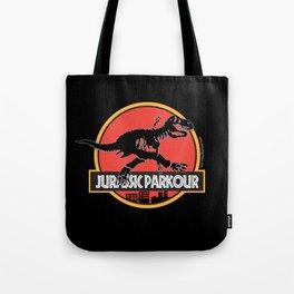 Jurassic Parkour Tote Bag