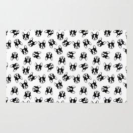 French bulldog pattern Rug