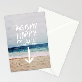 My Happy Place (Beach) Stationery Cards
