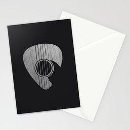 Strum... (White on Black) Stationery Cards