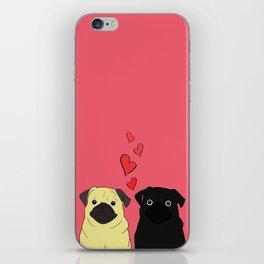 Pugs In Love Pink iPhone Skin