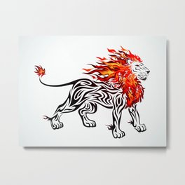 Lion of Fire Metal Print