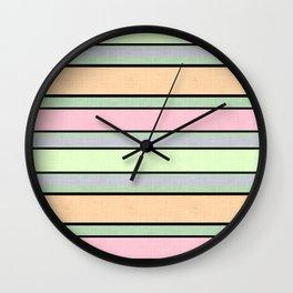 striped multicolor .1 Wall Clock