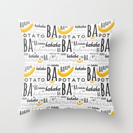 Minion - banana Throw Pillow