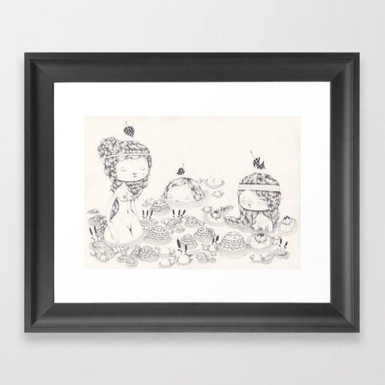Les Trois Grâces Framed Art Print