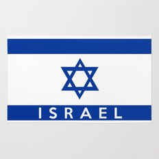 Israel country flag name text  Rug