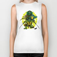 tmnt Biker Tanks featuring TMNT by Alex Trinidad Art