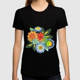 Fun Folk Floral Pattern T-shirt