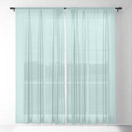 COOL TIDE Aqua Blue Pastel solid color Sheer Curtain