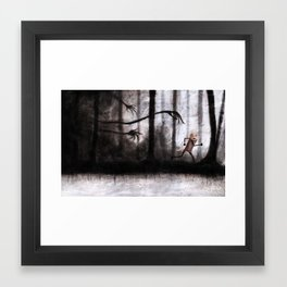 Run as fast as you can Framed Art Print