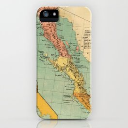 Vintage Map of Baja California (1899) iPhone Case