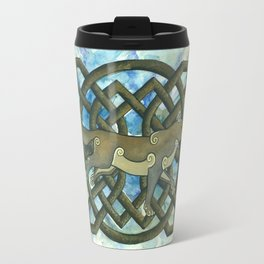 Celtic Wolf Travel Mug
