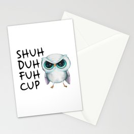 Owl Shuh Duh Fuh Cup Stationery Cards