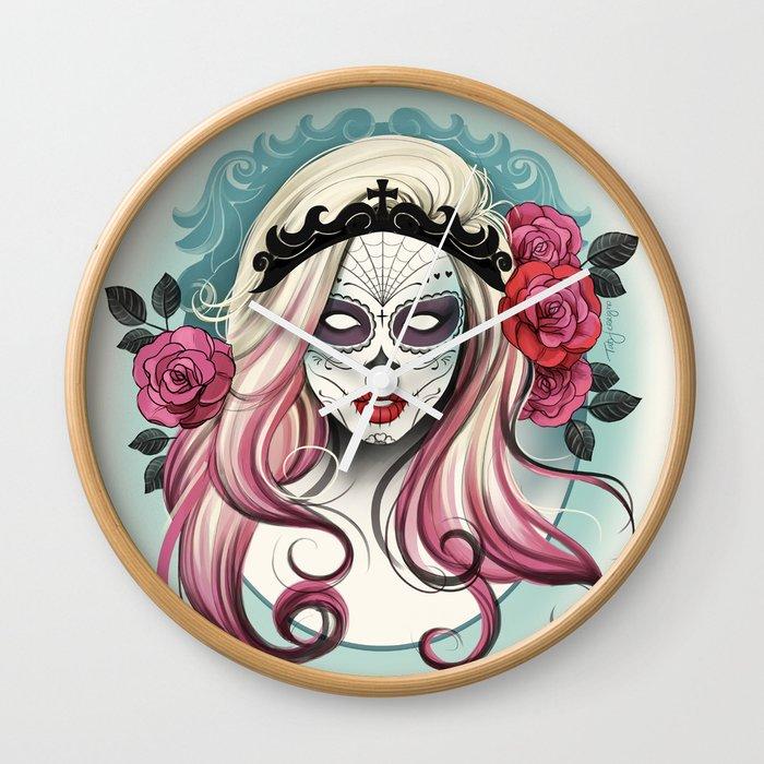 Dia de los Muertos! Wall Clock by tatiferrigno | Society6