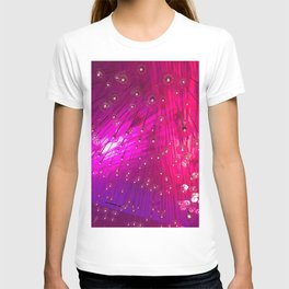 LA Nightclub: Hot Pink Lines Geometrical Abstract Light Show T-shirt