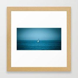 Main Sail Up on the California Coast Framed Art Print
