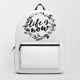 life is now floreal Backpack