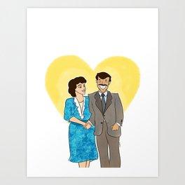 Mom and Dad  Art Print
